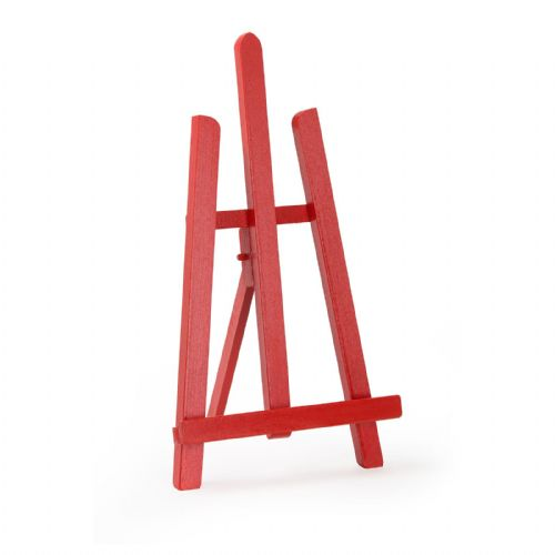 "Red Colour Easel Essex 16"" - Beech Wood"